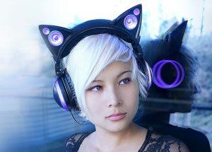 Audífonos con orejas de gato main