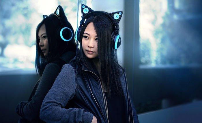 comprar audífonos con orejas de gato