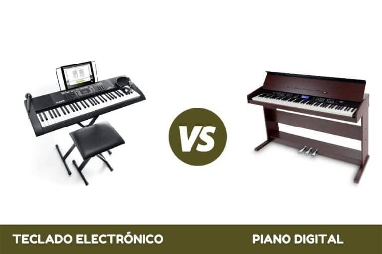 Teclado electrónico vs piano digital